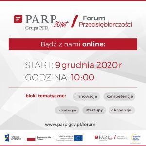 Forum Przedsiębiorczości PARP. Weź udział w wydarzeniu on-line!