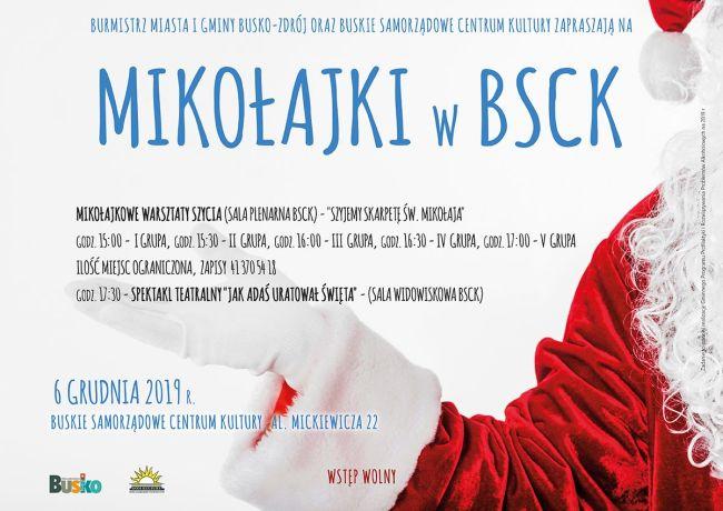 Zapraszamy na Mikołajki z BSCK
