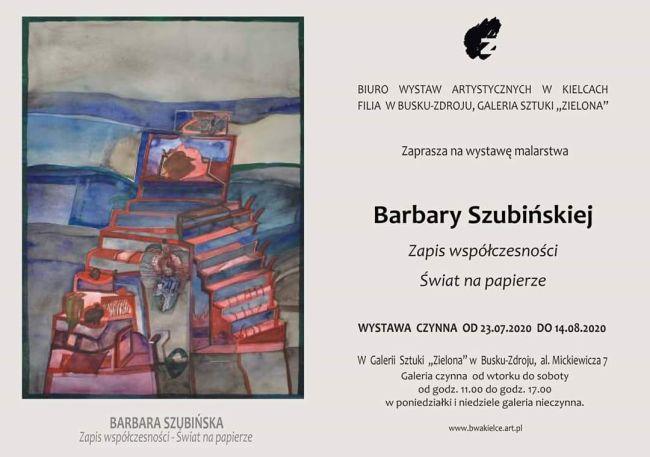 """Galeria Sztuki """"Zielona"""" zaprasza na wystawę malarstwa Barbary Szubińskiej"""