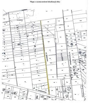 Mapa z zaznaczeniem ulicy Miętowej