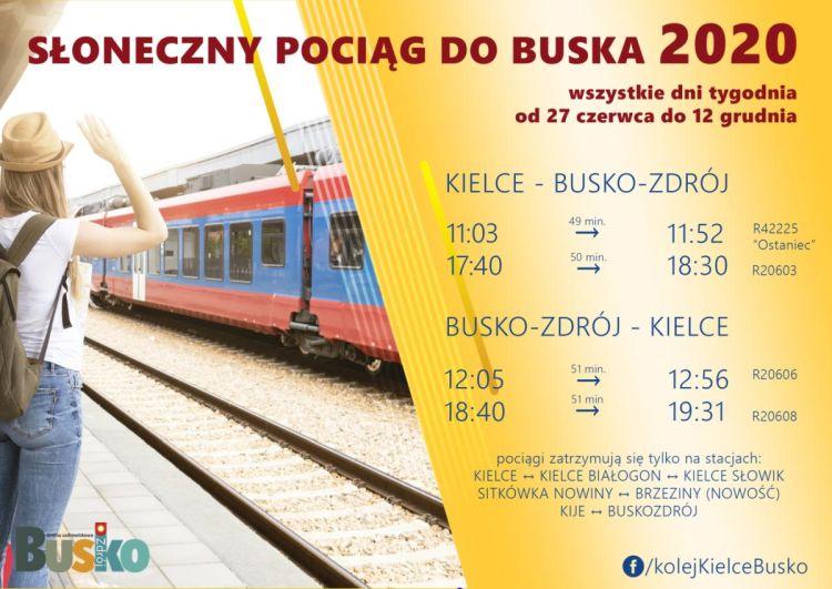 Słoneczny pociąg do Buska