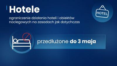 Przedłużenie zasad bezpieczeństwa do 25 kwietnia. Uwaga  wyjątki!