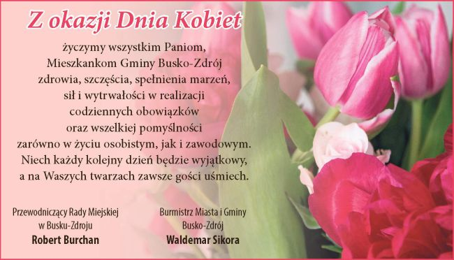Najlepsze życzenia dla wszystkich Pań!