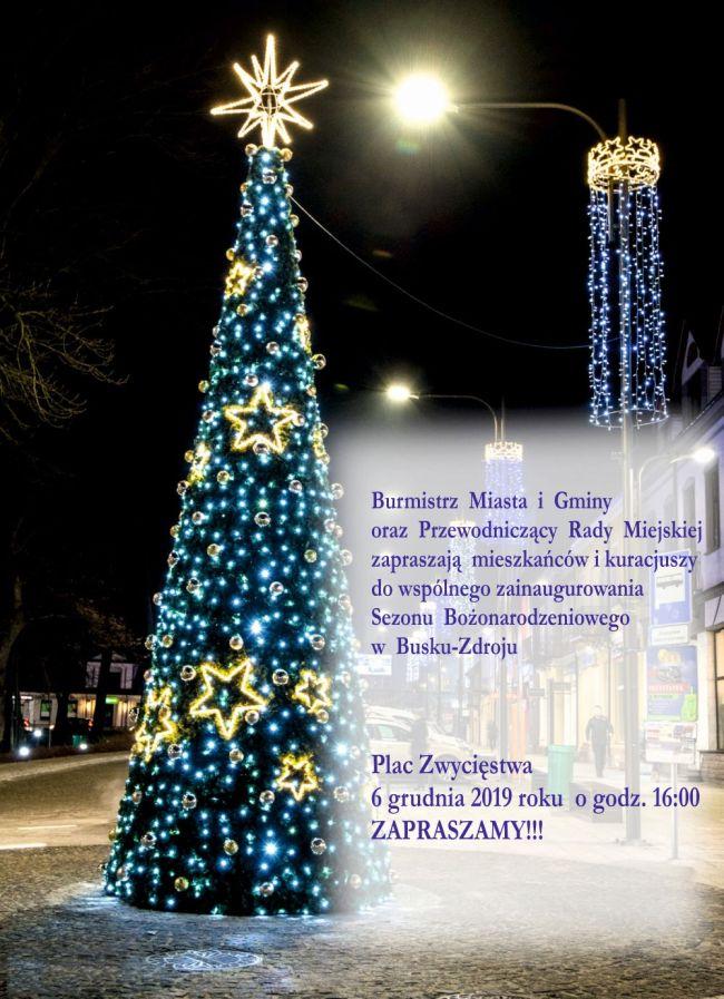 Burmistrz Miasta i Gminy oraz Przewodniczący rady Miejskiej zapraszają mieszkańców i kuracjuszy do wspólnego zainaugurowania Sezonu Bożonarodzeniowego