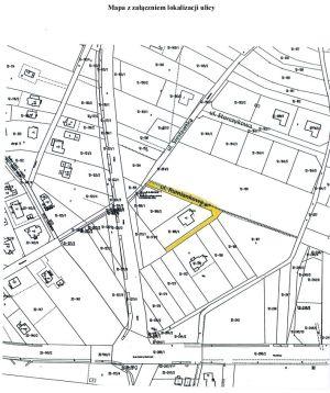 Mapa z zaznaczeniem ulicy Rumiankowej