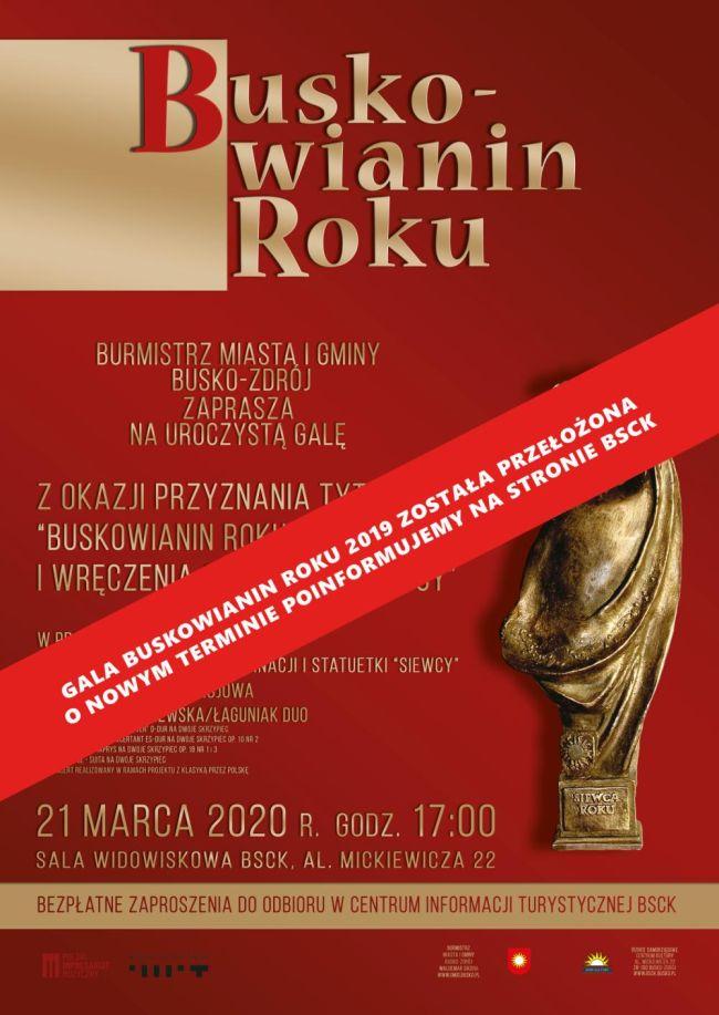 Buskowianin Roku 2019 - gala przełożona