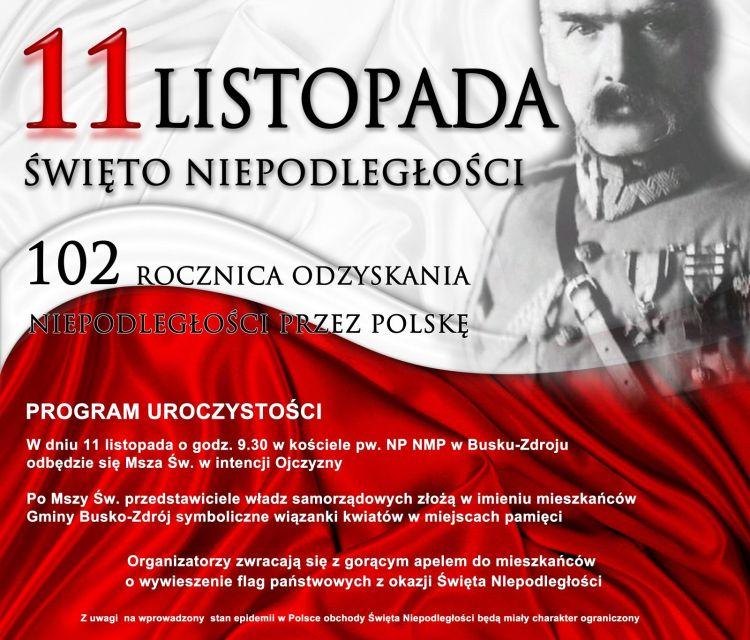 Obchody 102. rocznicy odzyskania przez Polskę Niepodległości w Busku-Zdroju
