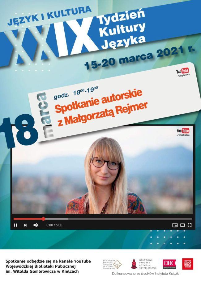 Spotkanie autorskie z Małgorzatą Rejmer